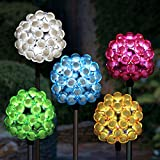 Exhart Solar Bubble Cluster Plant Stakes - 6PK, Stakes, Variety of Colors, Outdoor lights, Accented Light for Garden or Yard or Driveway, Solar-Powered