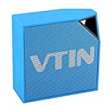 Vtin Cuber IP67 Waterproof Speakers, Bluetooth 4.0 Outdoor Portable Speakers with 5W Audio Driver, 10 Hours Playing Time for iPhone Samsung and Other Smart Phones - Blue