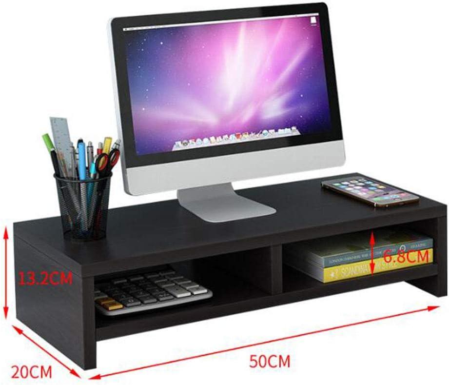 VIVOCFan Wood Computer Stand,Ergonomic Monitor Stand Riser,Detachable Laptop Stand Holder,with Storage Organizer Desk Shelf Red Maple B 70x20x26cm 28x8x10inch