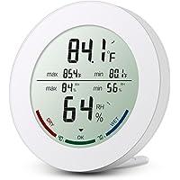 ORIA Digital Termómetro Higrómetro Interior, Medidor Temperatura y Humedad, Temperatura y Humedad Monitor con LCD…