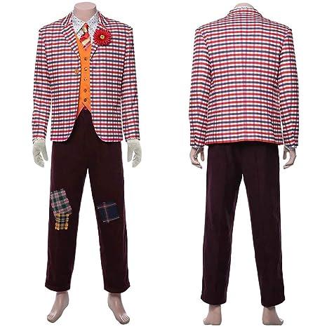 Xuyingyi Traje de Joker Traje de Halloween 2019 Película Cosplay Camisa Chaleco Pantalones Traje Traje Payaso Disfraces Ropa para Hombres Adulto Niño