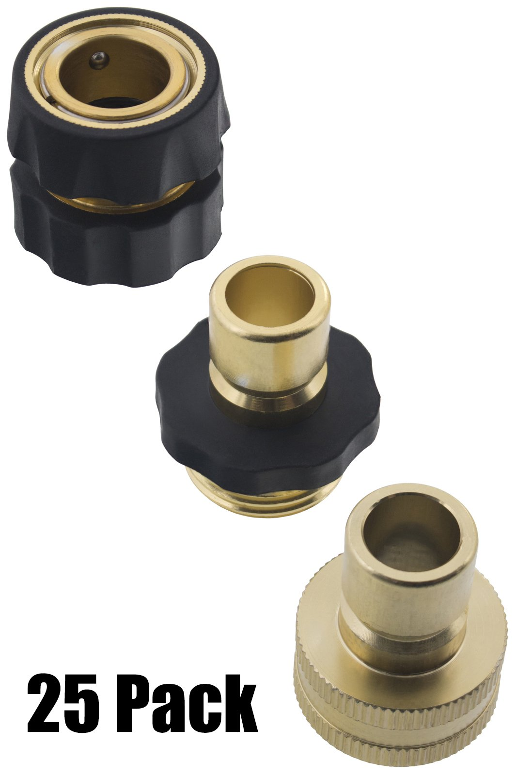 Erie Tools 25 Garden Hose Pressure Washer Quick Connector Kit with Male Female Connections and Nylon Grip
