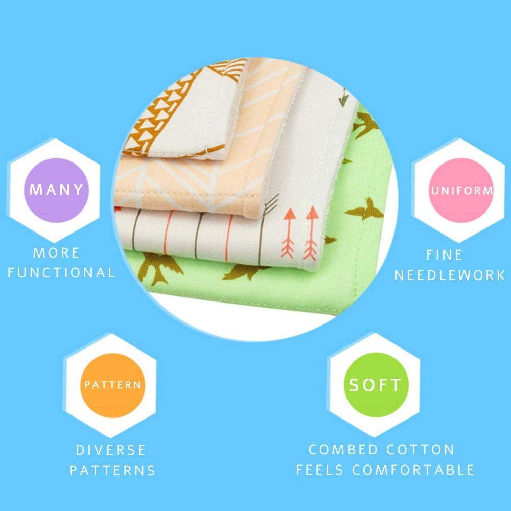 4 Pezzi Bavaglini Neonato Bavaglino bandana Panni Del Rutto Cotone Pannolini Panno per allattamento al seno ragazzo