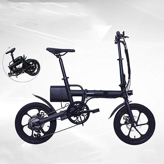 ZHaoZC Bicicleta eléctrica de 16 Pulgadas, batería electrónica de ...