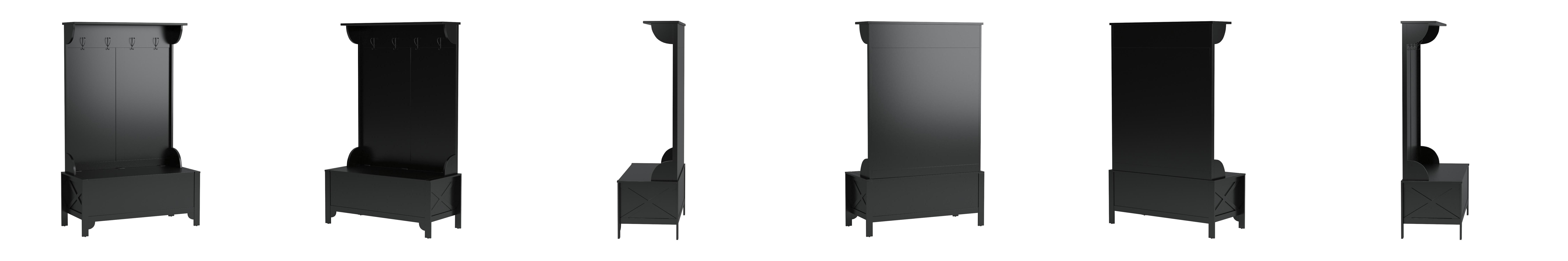 Cymax Furniture And Home Decor   Amazon Com Linon Home Decor Anna Hall Tree  Wide Bench