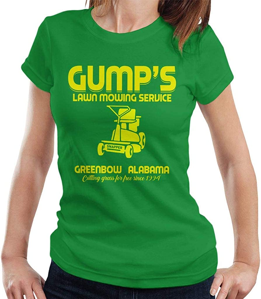 Cloud City 7 Gumps Lawn Mowing Service Forrest Gump Women S T Shirt Kelly Green Amazon Co Uk Clothing