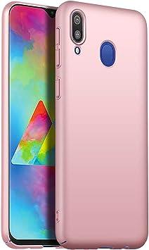 RFLY Funda Samsung Galaxy M20, Funda Protectora Resistente A Prueba De Golpes, Mate, Delgada, Dura y Rígida para PC Samsung Galaxy M20, Oro Rosa: Amazon.es: Electrónica