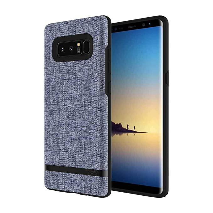 hot sale online 07343 e2b18 Incipio Carnaby Samsung Galaxy Note 8 Case [Esquire Series] with Co-Molded  Design and Ultra-Soft Cotton Finish for Samsung Galaxy Note 8 - Blue