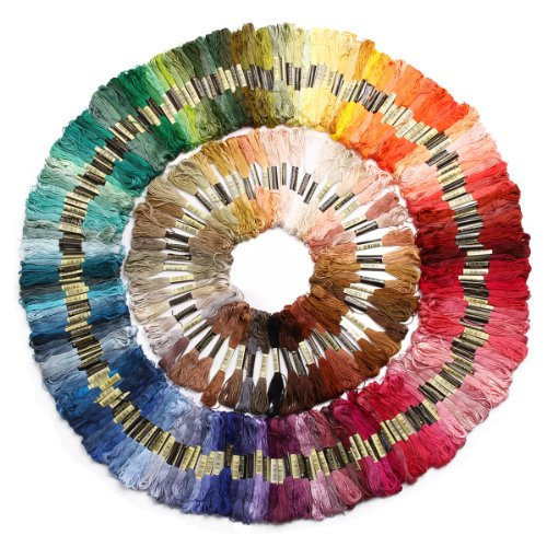 Surepromise Skeins Stranded Deal CXC 100% Cotton Embroidery Thread Cross Floss Sewing Pack of 250