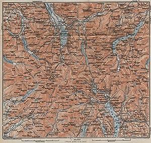 THE LAKE DISTRICT topomap Keswick Wimdermere Grasmere Ambleside