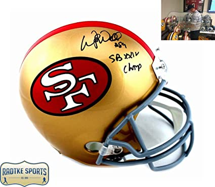 Wesley Walls Autographed Signed San Francisco 49ers Riddell Throwback Full  Size Helmet With  quot  c64299365