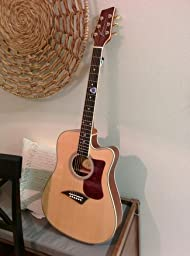 kona k2 acoustic electric dreadnought cutaway guitar in natural high gloss finish. Black Bedroom Furniture Sets. Home Design Ideas