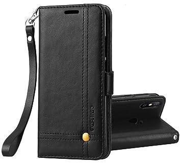 Ferilinso Funda Xiaomi Mi A2 Lite,Carcasa Cuero Retro Elegante con ID Tarjeta de Crédito Tragamonedas Soporte de Flip Cover Estuche de Cierre ...