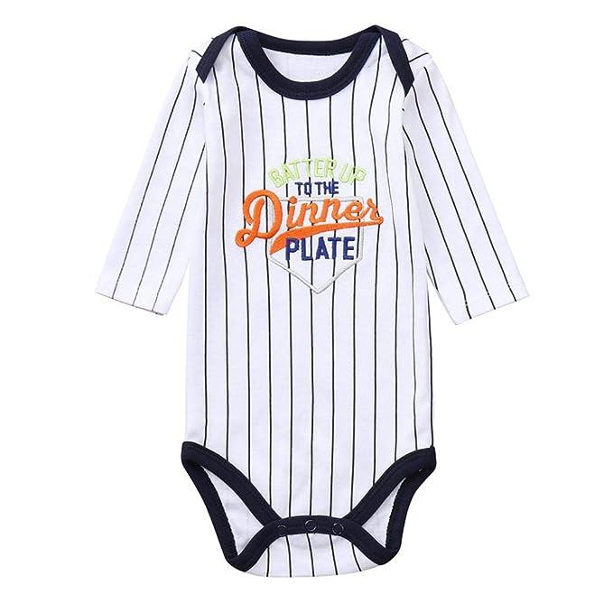 QinMM Body a Rayas para bebé niña y niño, Mono Peleles Manga Larga para la Blusa de Primavera de otoño Pijama Camisa: Amazon.es: Ropa y accesorios
