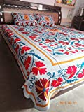 Handicraftofpinkcity Suzani Embroidered Bed Cover Bed Sheet Queen Size Bed Speared Set