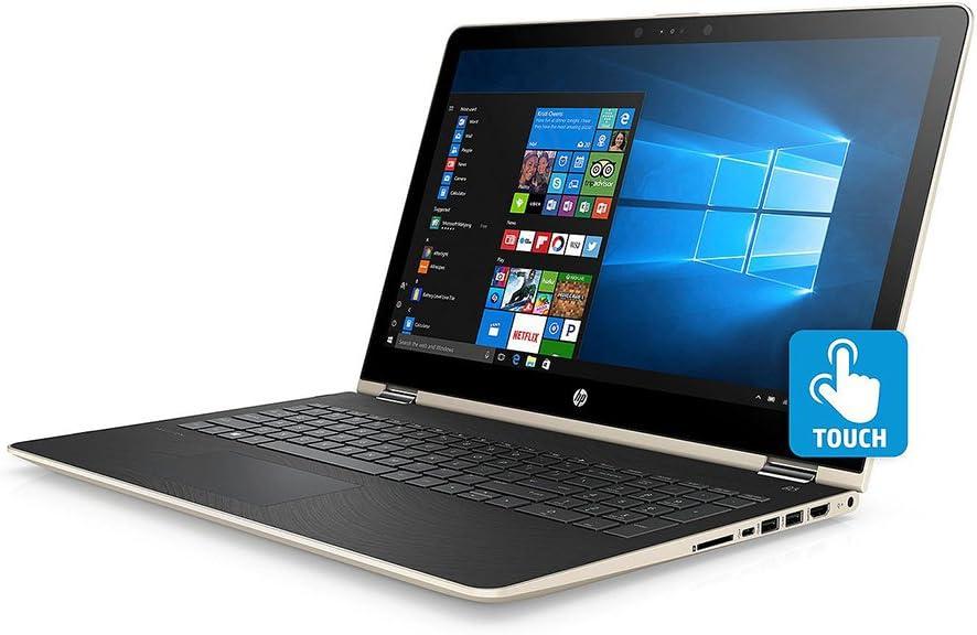 "HP X360 Business 2-in-1 Laptop PC 15.6"" FHD Touchscreen Intel i7-8550U Quad-Core Processor 8GB DDR4 RAM 1TB HDD Radeon DSC 530 Graphics Backlit-Keyboard B&O Audio Windows 10-Gold"
