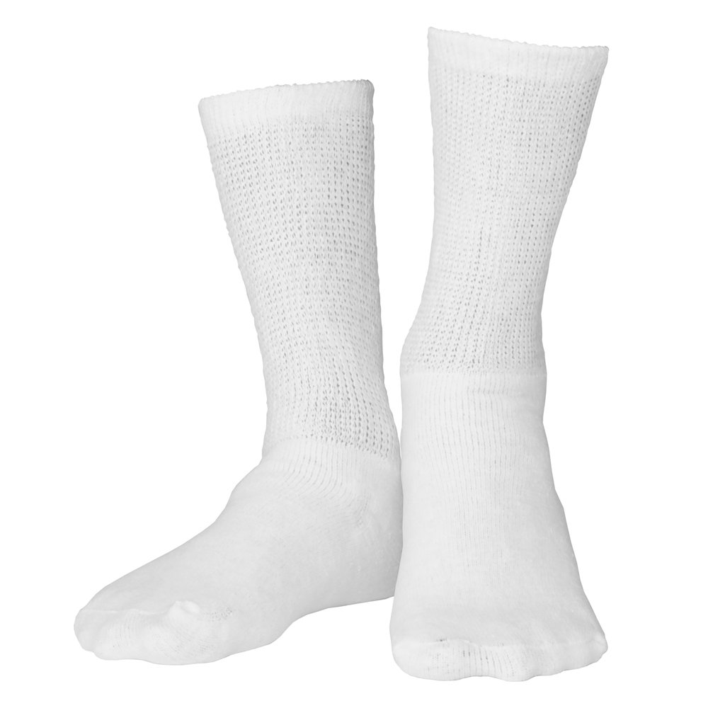 Truform Diabetic Socks Loose Fit, Medical Style, 3 Pairs, White by Truform (Image #1)