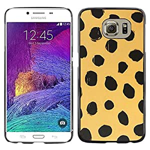 iKiki Tech / Estuche rígido - Beige Black Dots Animal Nature Fur - Samsung Galaxy S6 SM-G920