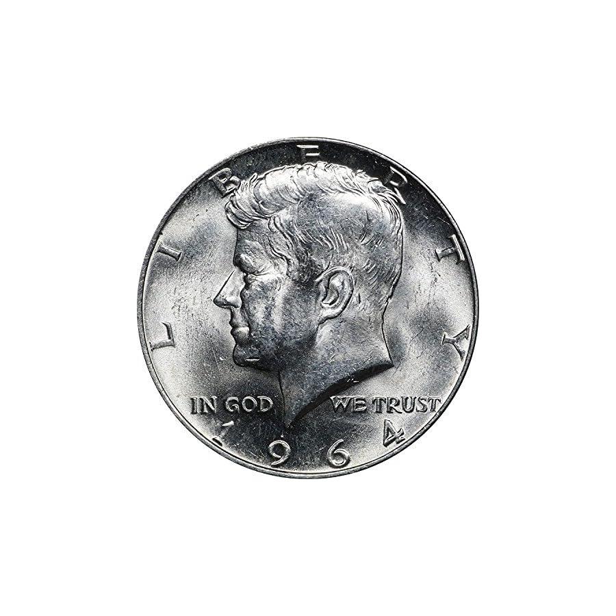 1964 D Silver Kennedy Half Dollar 50C BU #094