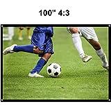 Écran de Projection YOKKAO Rétractable 220x125cm, Portable, Piable, avec Diagonale de 100 Pouches, seulement 1,496kg pour HD / 3D Film