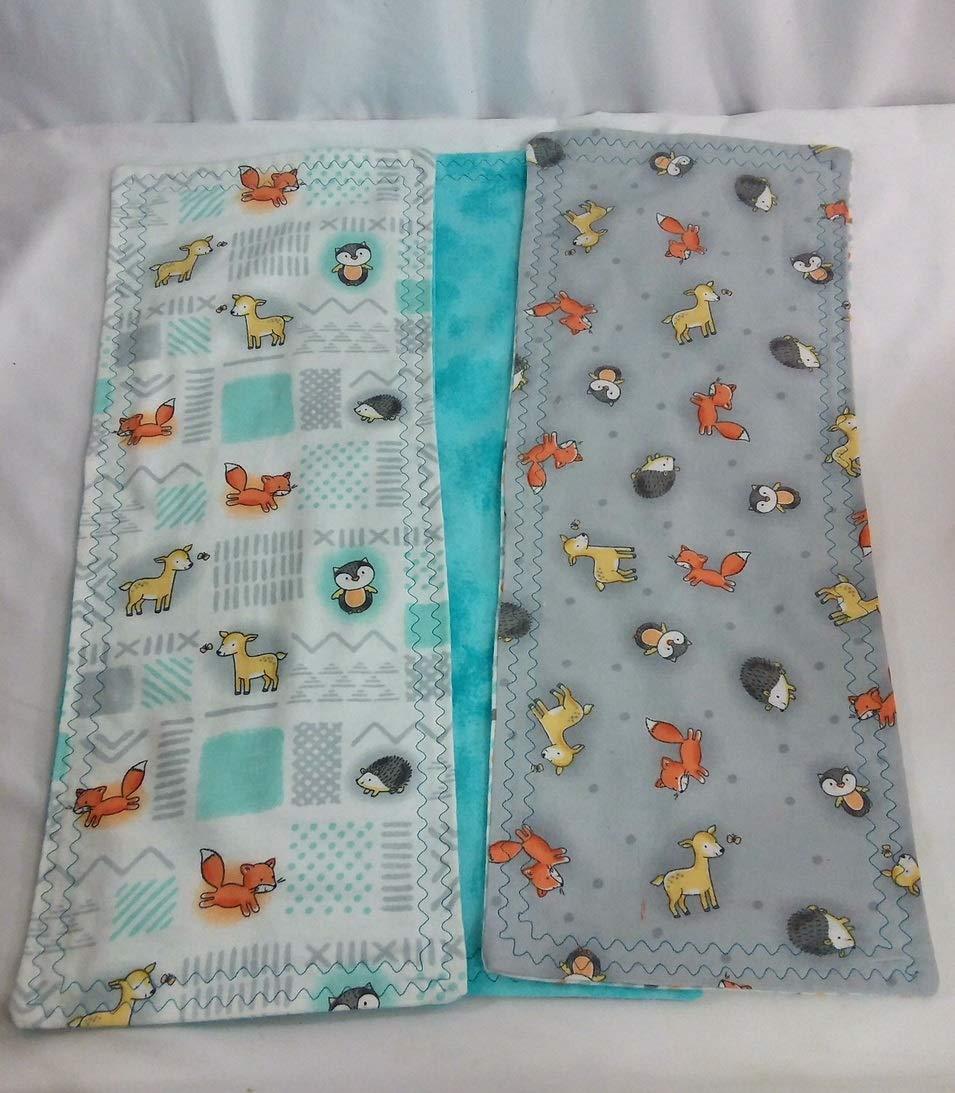 Woodland Animals Burp Cloth Set