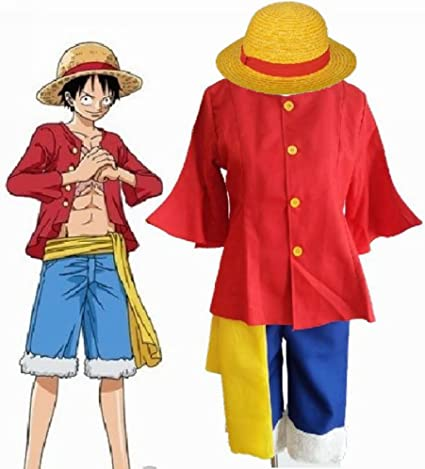 Fantasycart One Piece 2nd Generation Monkey D Luffy Cosplay Costume After 2 Years S