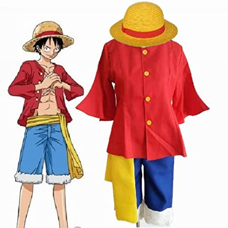 fantasycart ONE Piece 2nd Generation Monkey D Luffy Cosplay Costume After 2 Years XL