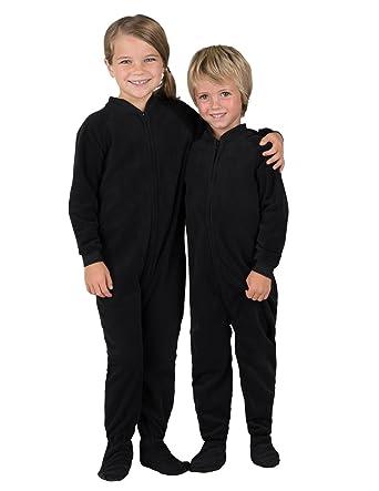 5adf0a8bdb3b Amazon.com  Footed Pajamas - Midnite Black Toddler Fleece Onesie ...
