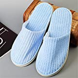 SPA slippers Disposable Slippers for Guests Closed Toe for Women and Men, Coral Fleece, A, 100 pairs