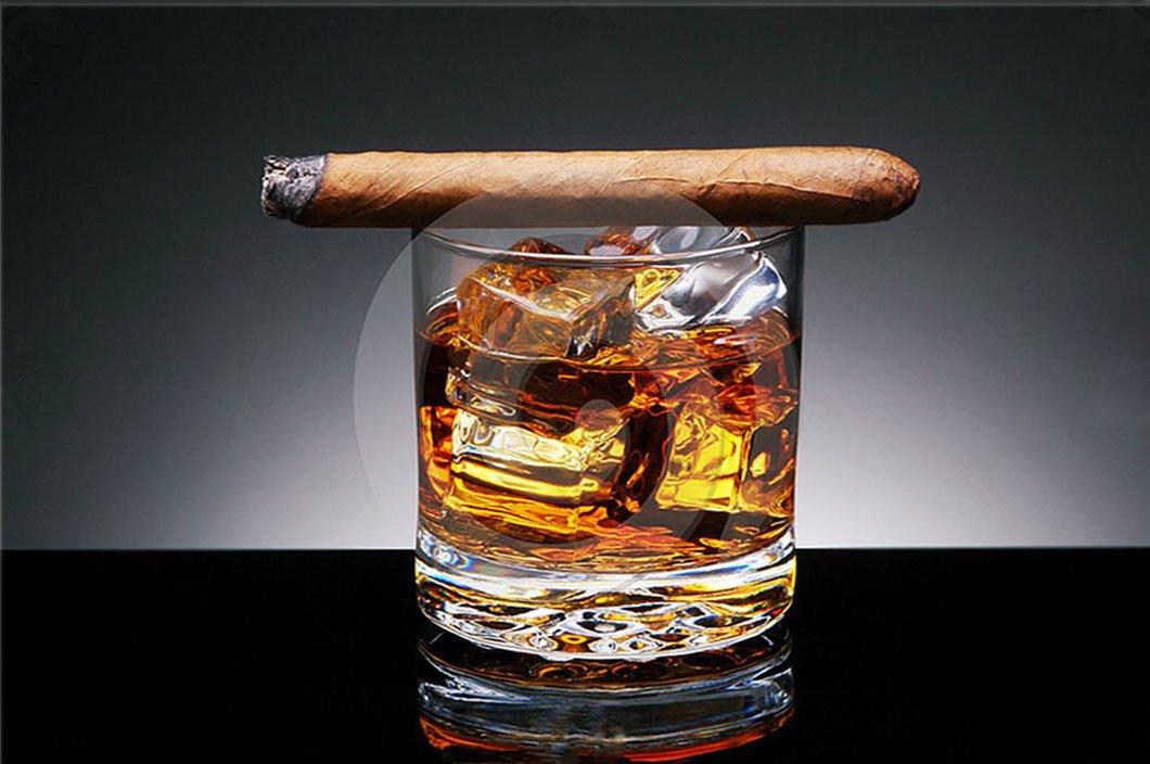 Startonight Startonight Startonight Glasbild Whisky und Zigarre, Bild auf Acrylglas Muster Modern Dekoration Fertig zum Aufhängen 60 x 90 cm 4c5780
