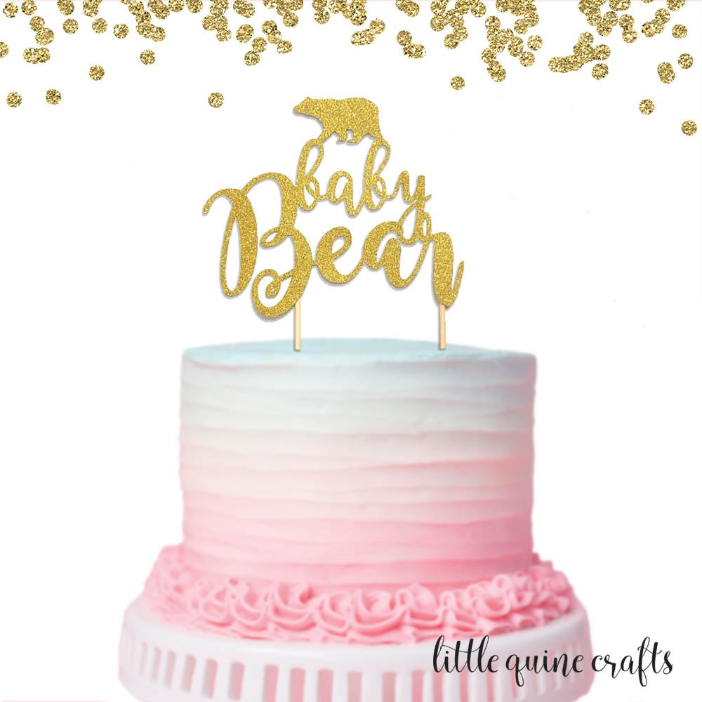 Custom Text Cake Topper Boy or Girl Glitter Cake Topper Gold Baby Shower Cake Topper Birthday Cake Topper Birthday Party Decorations