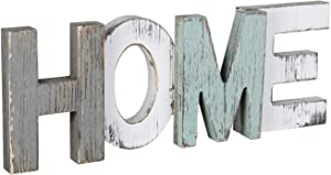 Rustic Wood Home Sign Cutout Word Letters Distressed Wood Multicolor Freestanding Decorative Home Living Room Kitchen Wall Mounted Decor Tabletop Desk Decorative Signs & Plaques