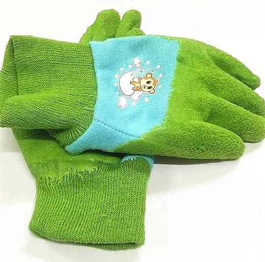 Pxyaz 1 par de Guantes de jardín para niños de Color Verde para niños de 3-5 años, Guantes de jardinería o de Trabajo de algodón Suave: Amazon.es: Hogar