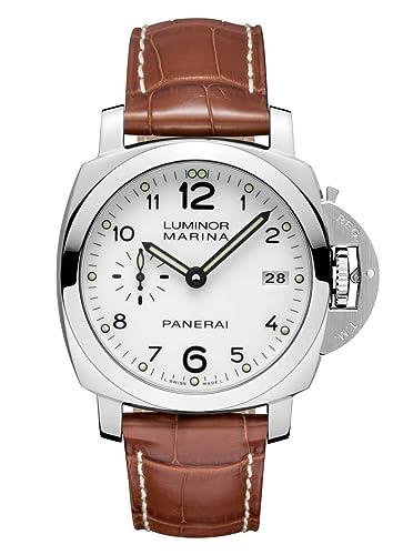 PANERAI RELOJ DE HOMBRE AUTOMÁTICO 42MM CORREA DE CUERO CAJA DE ACERO PAM00523: Panerai: Amazon.es: Relojes