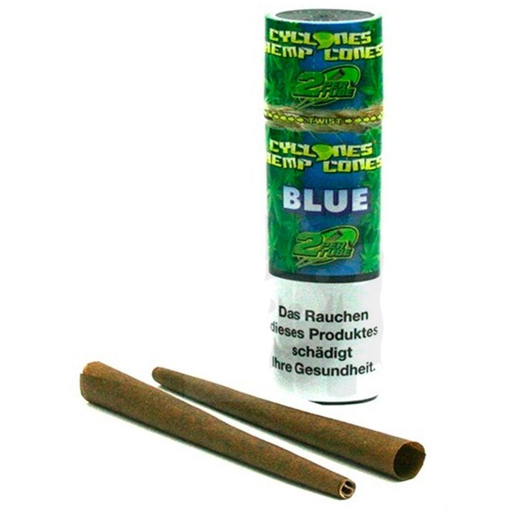cyclone hemp cones blue