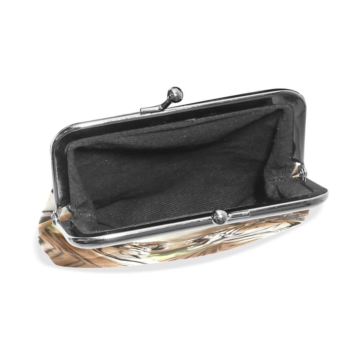 LALATOP Roaring Bengal Tigers Womens Coin Pouch Purse wallet Card Holder Clutch Handbag