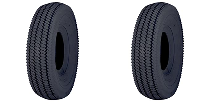 """(Lot of 2) Rubber Master 4"""" 2.80/2.50-4 Tubeless Sawtooth Rib Tires 4 ply rated"""