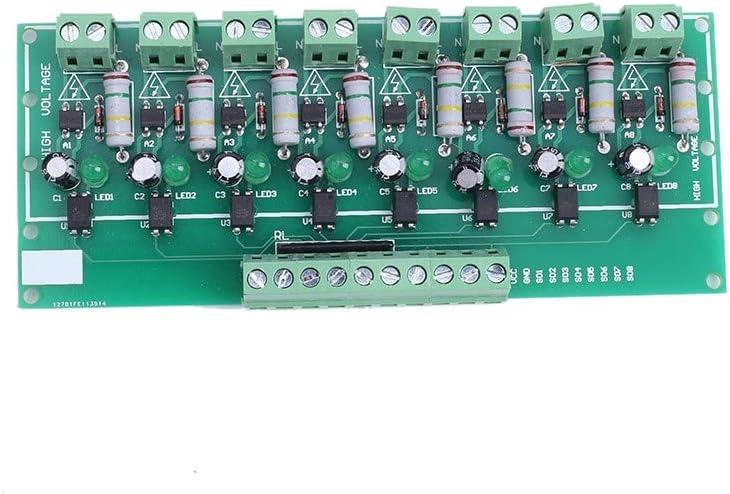 AC 110V 220V to 3V-5V 8 Channel Optocoupler Isolation Board Voltage Level Translator PNP Output PLC Signal Converter Module