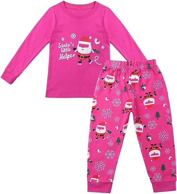 Agoky Unisex Niños Niñas Conjunto Ropa Navidad Traje Pijamas de ...
