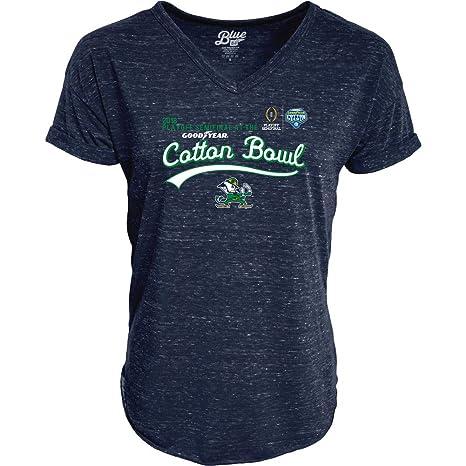 6ea00475acb Elite Fan Shop Notre Dame Fighting Irish Cotton Bowl Women's Tshirt 2018  Navy - S