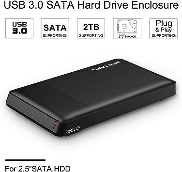 wavlink USB 3.1 A SATA/SSD/HDD de 2,5 Pulgadas Caja Externa Disco ...