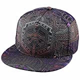 Samtree Adjustable 3D Printed Flat Bill Baseball Cap,Hip Hop Dancing Snapback Hat(Style 8)