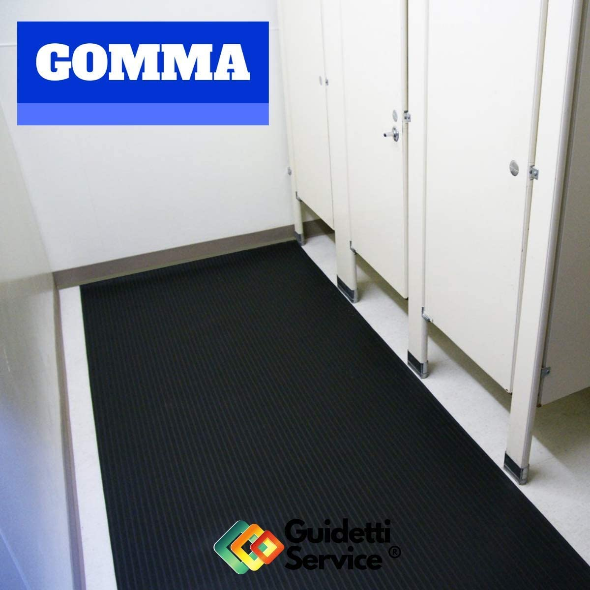 altura 120 cm de Guidetti Service /® Alfombra de goma antideslizante de rayas