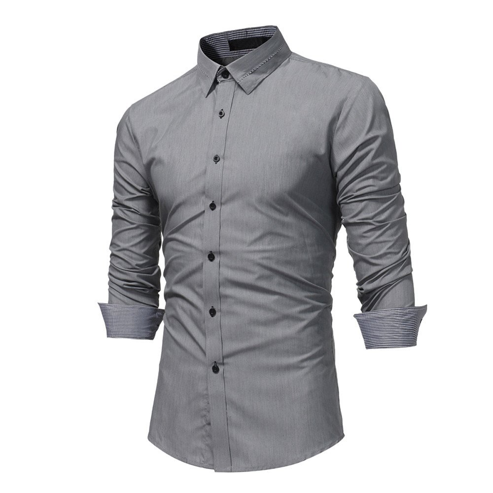 Men's Shirts, CieKen Men Fashion Slim Long Sleeve Casual Button Down Shirt Men' s Shirts
