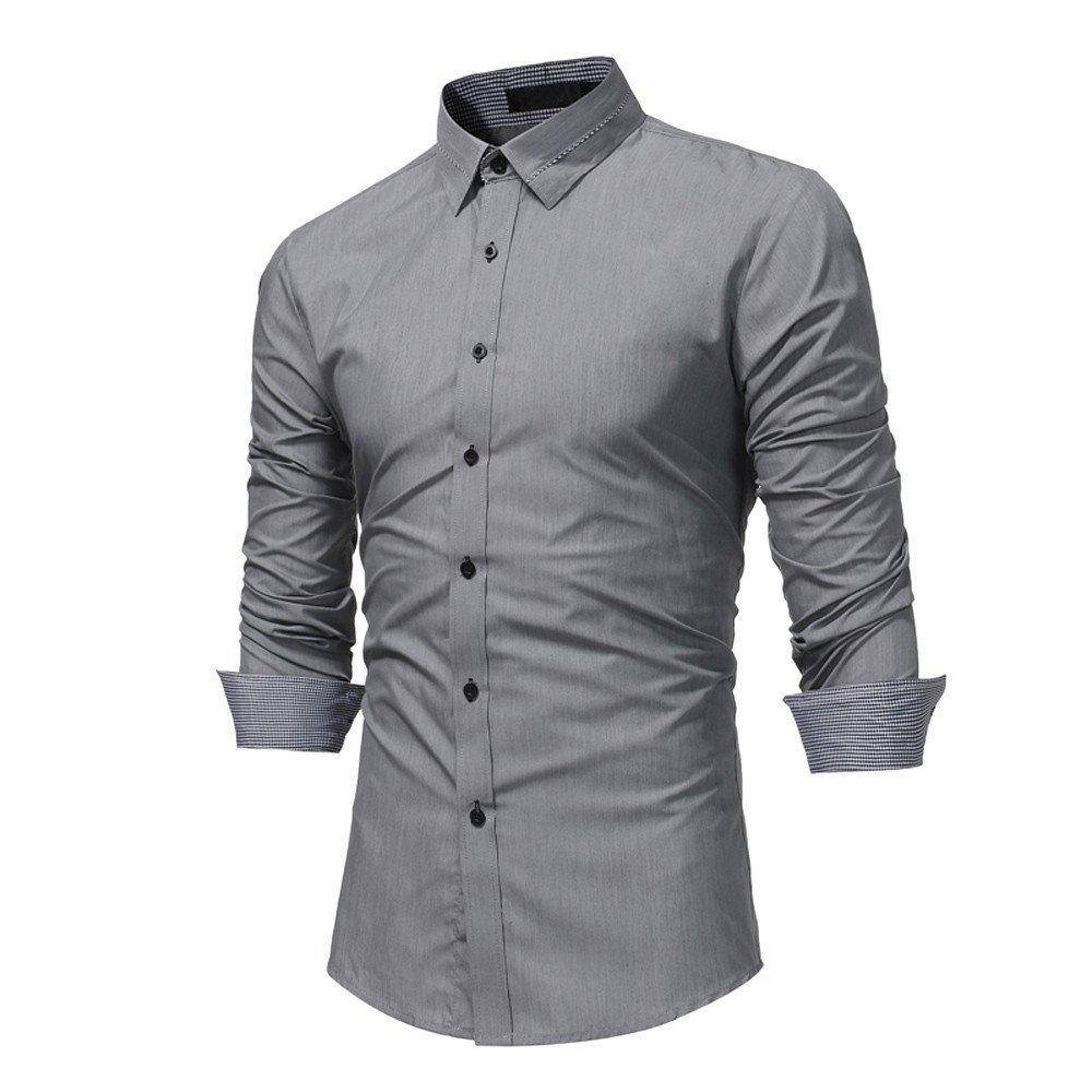 Men's Shirts, CieKen Men Fashion Slim Long Sleeve Casual Button Down Shirt Men' s Shirts