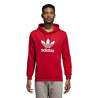 9e30c290c adidas Originals Men s Trefoil Hoodie Collegiate Red X-Small