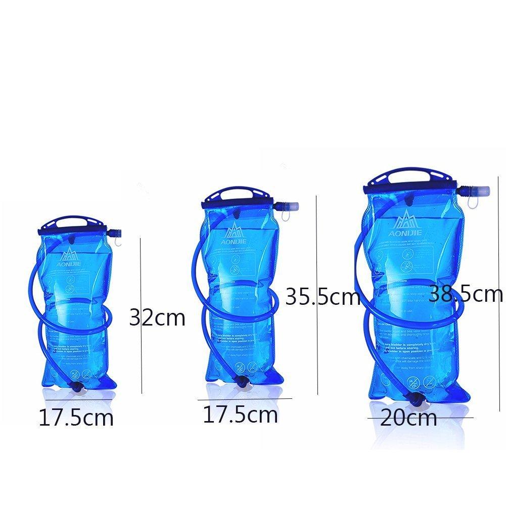 AONIJIE Bolsa de hidratación para Mochila de Senderismo, Sistema de hidratación con Reserva de Agua para 1 l, 1,5 l, 2 l y 3 l, de la Marca: Amazon.es: ...