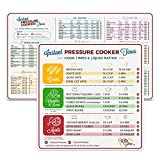 Instant Pot Electric Pressure Cooker Cook Times Quick Reference Guide | Instapot Accessories Magnetic Cheat Sheet Magnet Set | Sticker and Decal Alternative