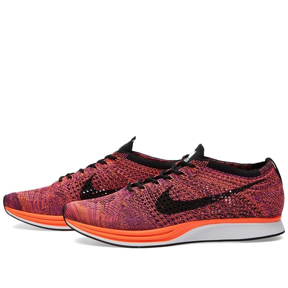 NIKE Unisex Flyknit Racer Running Shoe B01B9MAO2Q 13 D(M) US|Black/Black-hyper Orange-vivid Purple