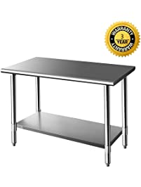 Amazon worktables workstations food service equipment z grill stainless steel prep work table workwithnaturefo
